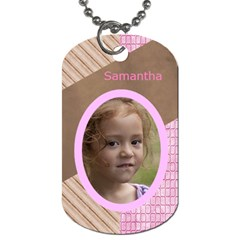 Pink Choc Dog Tag (two Sided) By Deborah   Dog Tag (two Sides)   Ro3ukqk4zuun   Www Artscow Com Front