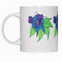 Flower Design White Coffee Mug by JacklyneMae
