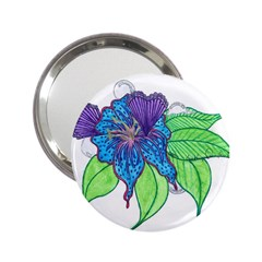 Flower Design Handbag Mirror (2 25 ) by JacklyneMae