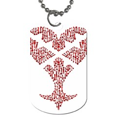Key Heart 2 Dog Tag (one Sided) by Nightmarechild