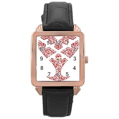 Key Heart 2 Rose Gold Leather Watch