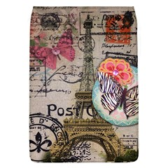 Floral Scripts Butterfly Eiffel Tower Vintage Paris Fashion Removable Flap Cover (large) by chicelegantboutique