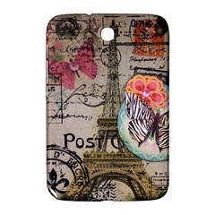 Floral Scripts Butterfly Eiffel Tower Vintage Paris Fashion Samsung Galaxy Note 8 0 N5100 Hardshell Case  by chicelegantboutique