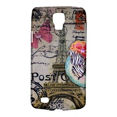 Floral Scripts Butterfly Eiffel Tower Vintage Paris Fashion Samsung Galaxy S4 Active (i9295) Hardshell Case by chicelegantboutique