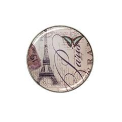 Vintage Scripts Floral Scripts Butterfly Eiffel Tower Vintage Paris Fashion Golf Ball Marker 4 Pack (for Hat Clip) by chicelegantboutique
