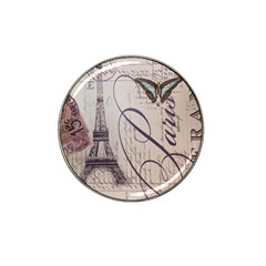 Vintage Scripts Floral Scripts Butterfly Eiffel Tower Vintage Paris Fashion Golf Ball Marker 10 Pack (for Hat Clip)