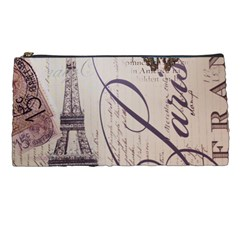 Vintage Scripts Floral Scripts Butterfly Eiffel Tower Vintage Paris Fashion Pencil Case