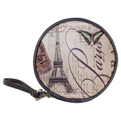 Vintage Scripts Floral Scripts Butterfly Eiffel Tower Vintage Paris Fashion Cd Wallet by chicelegantboutique