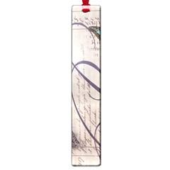 Vintage Scripts Floral Scripts Butterfly Eiffel Tower Vintage Paris Fashion Large Bookmark by chicelegantboutique