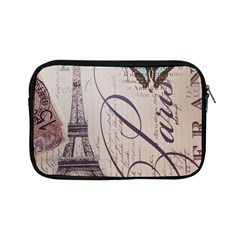 Vintage Scripts Floral Scripts Butterfly Eiffel Tower Vintage Paris Fashion Apple Ipad Mini Zipper Case by chicelegantboutique