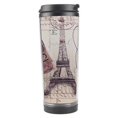 Vintage Scripts Floral Scripts Butterfly Eiffel Tower Vintage Paris Fashion Travel Tumbler by chicelegantboutique