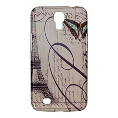 Vintage Scripts Floral Scripts Butterfly Eiffel Tower Vintage Paris Fashion Samsung Galaxy Mega 6 3  I9200