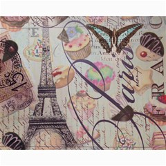 French Pastry Vintage Scripts Floral Scripts Butterfly Eiffel Tower Vintage Paris Fashion Canvas 16  X 20  (unframed) by chicelegantboutique