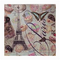 French Pastry Vintage Scripts Floral Scripts Butterfly Eiffel Tower Vintage Paris Fashion Glasses Cloth (medium) by chicelegantboutique