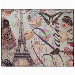 French Pastry Vintage Scripts Floral Scripts Butterfly Eiffel Tower Vintage Paris Fashion Canvas 11  X 14  (unframed) by chicelegantboutique