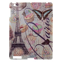 French Pastry Vintage Scripts Floral Scripts Butterfly Eiffel Tower Vintage Paris Fashion Apple Ipad 3/4 Hardshell Case by chicelegantboutique