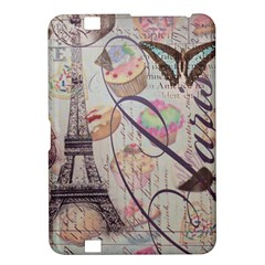 French Pastry Vintage Scripts Floral Scripts Butterfly Eiffel Tower Vintage Paris Fashion Kindle Fire Hd 8 9  Hardshell Case by chicelegantboutique
