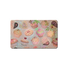 French Pastry Vintage Scripts Cookies Cupcakes Vintage Paris Fashion Magnet (name Card) by chicelegantboutique