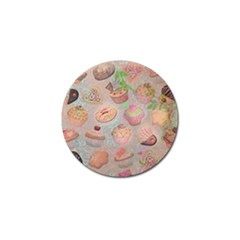 French Pastry Vintage Scripts Cookies Cupcakes Vintage Paris Fashion Golf Ball Marker 10 Pack by chicelegantboutique