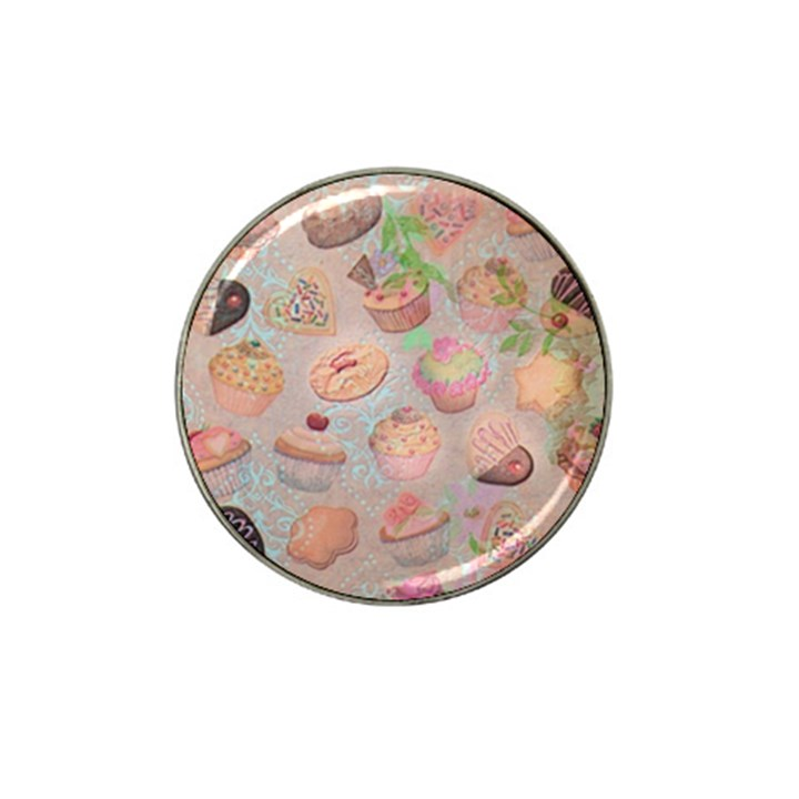 French Pastry Vintage Scripts Cookies Cupcakes Vintage Paris Fashion Golf Ball Marker (for Hat Clip)