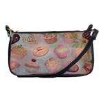 French Pastry Vintage Scripts Cookies Cupcakes Vintage Paris Fashion Evening Bag Front