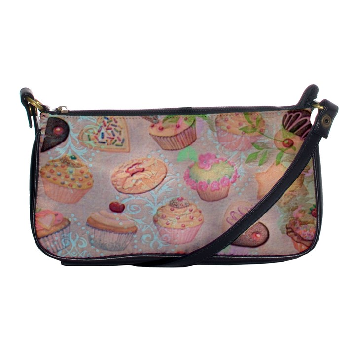 French Pastry Vintage Scripts Cookies Cupcakes Vintage Paris Fashion Evening Bag