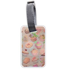French Pastry Vintage Scripts Cookies Cupcakes Vintage Paris Fashion Luggage Tag (one Side)