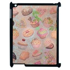 French Pastry Vintage Scripts Cookies Cupcakes Vintage Paris Fashion Apple Ipad 2 Case (black)