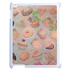 French Pastry Vintage Scripts Cookies Cupcakes Vintage Paris Fashion Apple Ipad 2 Case (white) by chicelegantboutique