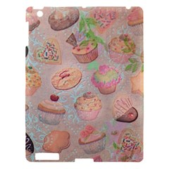French Pastry Vintage Scripts Cookies Cupcakes Vintage Paris Fashion Apple Ipad 3/4 Hardshell Case by chicelegantboutique