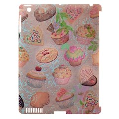 French Pastry Vintage Scripts Cookies Cupcakes Vintage Paris Fashion Apple Ipad 3/4 Hardshell Case (compatible With Smart Cover) by chicelegantboutique