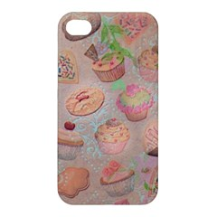 French Pastry Vintage Scripts Cookies Cupcakes Vintage Paris Fashion Apple Iphone 4/4s Premium Hardshell Case by chicelegantboutique