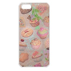 French Pastry Vintage Scripts Cookies Cupcakes Vintage Paris Fashion Apple Iphone 5 Seamless Case (white) by chicelegantboutique