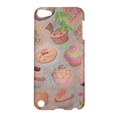 French Pastry Vintage Scripts Cookies Cupcakes Vintage Paris Fashion Apple Ipod Touch 5 Hardshell Case by chicelegantboutique