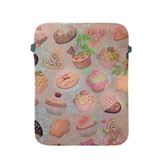 French Pastry Vintage Scripts Cookies Cupcakes Vintage Paris Fashion Apple Ipad 2/3/4 Protective Soft Case by chicelegantboutique