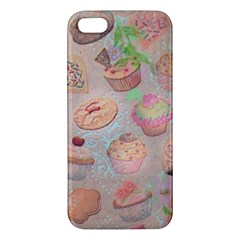 French Pastry Vintage Scripts Cookies Cupcakes Vintage Paris Fashion Iphone 5s Premium Hardshell Case by chicelegantboutique