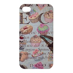 French Pastry Vintage Scripts Floral Scripts Butterfly Eiffel Tower Vintage Paris Fashion Apple Iphone 4/4s Hardshell Case by chicelegantboutique