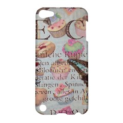 French Pastry Vintage Scripts Floral Scripts Butterfly Eiffel Tower Vintage Paris Fashion Apple Ipod Touch 5 Hardshell Case by chicelegantboutique