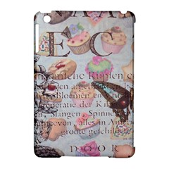 French Pastry Vintage Scripts Floral Scripts Butterfly Eiffel Tower Vintage Paris Fashion Apple Ipad Mini Hardshell Case (compatible With Smart Cover) by chicelegantboutique
