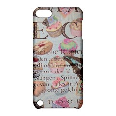 French Pastry Vintage Scripts Floral Scripts Butterfly Eiffel Tower Vintage Paris Fashion Apple Ipod Touch 5 Hardshell Case With Stand by chicelegantboutique