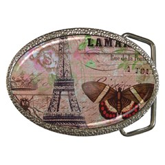 Girly Bee Crown  Butterfly Paris Eiffel Tower Fashion Belt Buckle (oval)