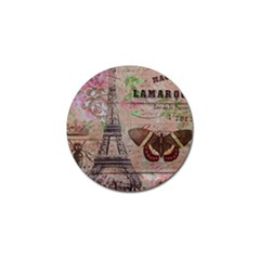 Girly Bee Crown  Butterfly Paris Eiffel Tower Fashion Golf Ball Marker 4 Pack