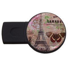 Girly Bee Crown  Butterfly Paris Eiffel Tower Fashion 2gb Usb Flash Drive (round) by chicelegantboutique