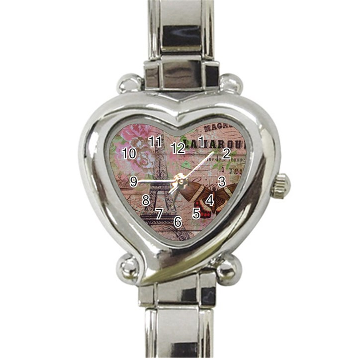 Girly Bee Crown  Butterfly Paris Eiffel Tower Fashion Heart Italian Charm Watch