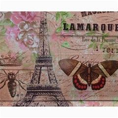 Girly Bee Crown  Butterfly Paris Eiffel Tower Fashion Canvas 16  X 20  (unframed) by chicelegantboutique