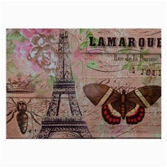 Girly Bee Crown  Butterfly Paris Eiffel Tower Fashion Glasses Cloth (large, Two Sided) by chicelegantboutique