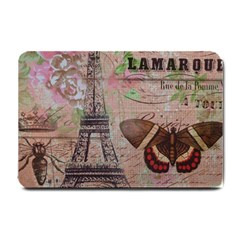 Girly Bee Crown  Butterfly Paris Eiffel Tower Fashion Small Door Mat by chicelegantboutique
