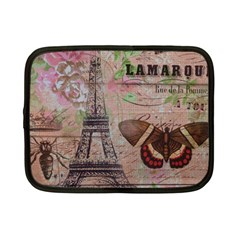 Girly Bee Crown  Butterfly Paris Eiffel Tower Fashion Netbook Case (small) by chicelegantboutique
