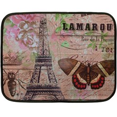 Girly Bee Crown  Butterfly Paris Eiffel Tower Fashion Mini Fleece Blanket (two Sided) by chicelegantboutique