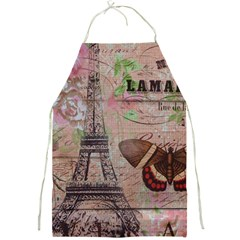 Girly Bee Crown  Butterfly Paris Eiffel Tower Fashion Apron by chicelegantboutique